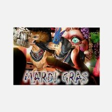 Mardi Gras 2 Rectangle Magnet