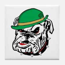 Irish Bulldog Tile Coaster
