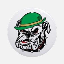 Irish Bulldog Ornament (Round)