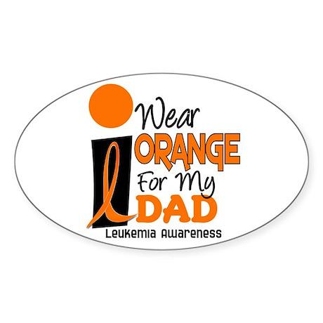 I Wear Orange For My Dad 9 Oval Sticker