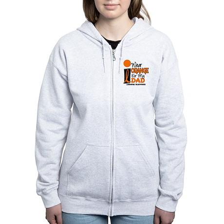 I Wear Orange For My Dad 9 Women's Zip Hoodie