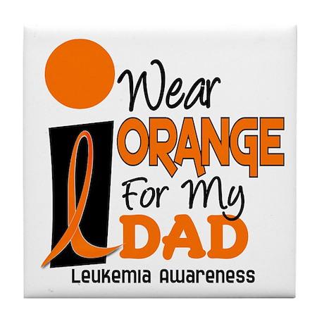 I Wear Orange For My Dad 9 Tile Coaster