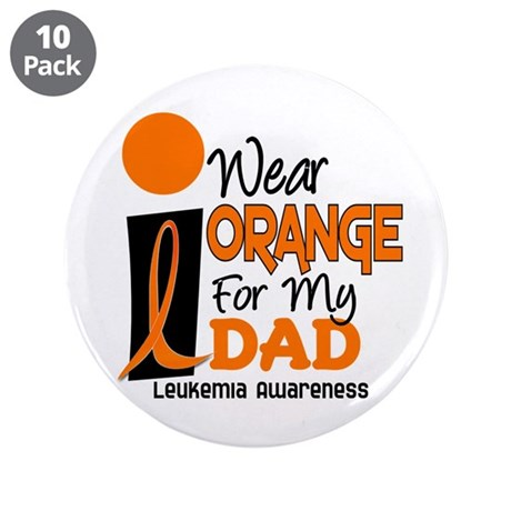 "I Wear Orange For My Dad 9 3.5"" Button (10 pack)"
