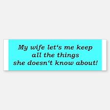 """""""Nice Wife"""" Bumper Bumper Bumper Sticker"""