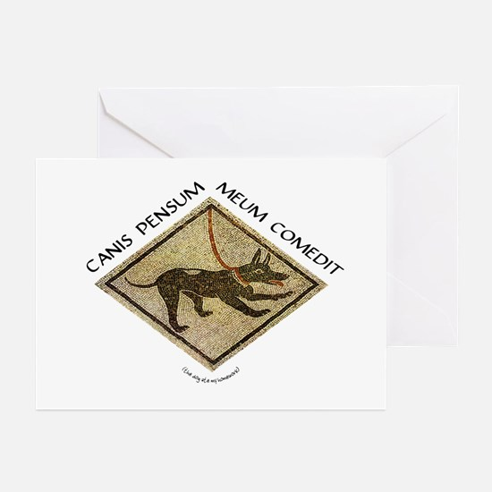 Dog Ate My Homework Greeting Cards (Pk of 10)