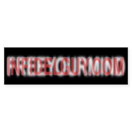 URL/Slogan Illusion Bumper Sticker