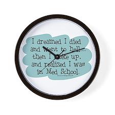 Med School Hell Wall Clock
