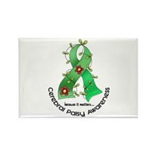 Flower Ribbon CEREBRAL PALSY Rectangle Magnet