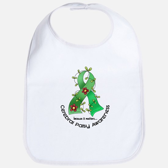 Flower Ribbon CEREBRAL PALSY Bib