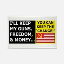 I'll Keep My Guns, Freedom, a Rectangle Magnet