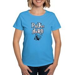 Polka Hero Women's Dark T-Shirt