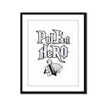 Polka Hero Framed Panel Print