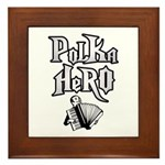 Polka Hero Framed Tile