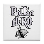 Polka Hero Tile Coaster
