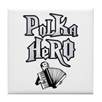 Polka Hero Tile Coaster
