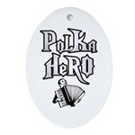 Polka Hero Oval Ornament