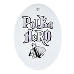 Polka Hero Oval Ornament