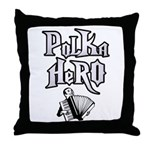 Polka Hero Throw Pillow