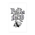 Polka Hero Rectangle Sticker 50 pk)