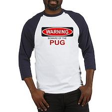 Beware Pug Baseball Jersey