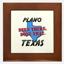 plano texas - been there, done that Framed Tile