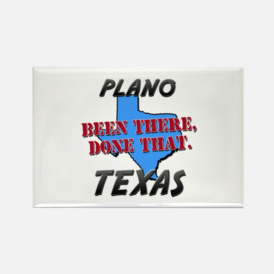 plano texas - been there, done that Rectangle Magn