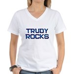 trudy rocks Women's V-Neck T-Shirt