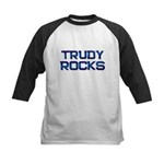 trudy rocks Kids Baseball Jersey