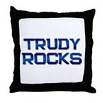 trudy rocks Throw Pillow