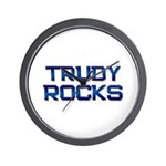 trudy rocks Wall Clock