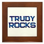 trudy rocks Framed Tile