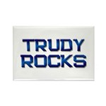 trudy rocks Rectangle Magnet (10 pack)