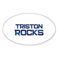 triston rocks Oval Decal