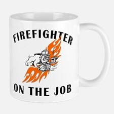 Firefighter Bulldog Mug