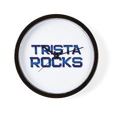 trista rocks Wall Clock