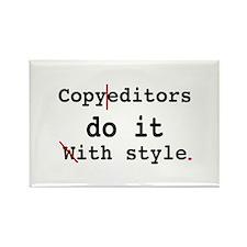 Copy editors do it ... Rectangle Magnet