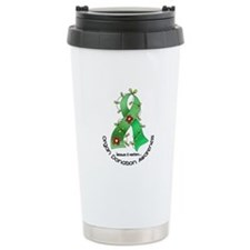 Flower Ribbon ORGAN DONATION Travel Mug