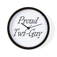 Twi-Guy Wall Clock