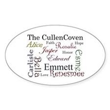 Cullen Words Oval Decal