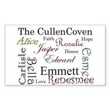 Cullen Words Rectangle Decal