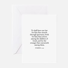NUMBERS  15:29 Greeting Cards (Pk of 10)