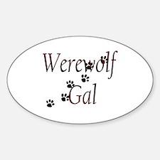 Werewolf Gal Oval Decal
