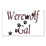 Werewolf Gal Rectangle Sticker