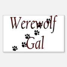 Werewolf Gal Rectangle Decal