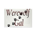 Werewolf Gal Rectangle Magnet