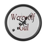 Werewolf Gal Large Wall Clock