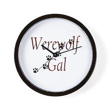 Werewolf Gal Wall Clock