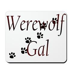 Werewolf Gal Mousepad