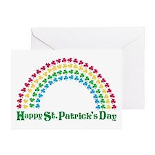 Happy St. Patrick's Day Rainb Greeting Card