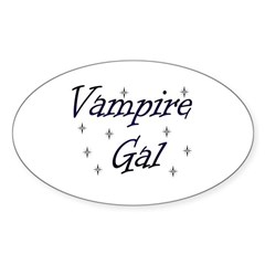 Vampire Gal Oval Decal
